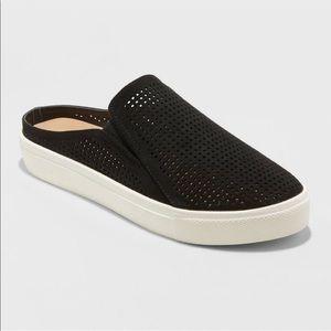 Universal Thread Black Perforated Slip On Sneakers
